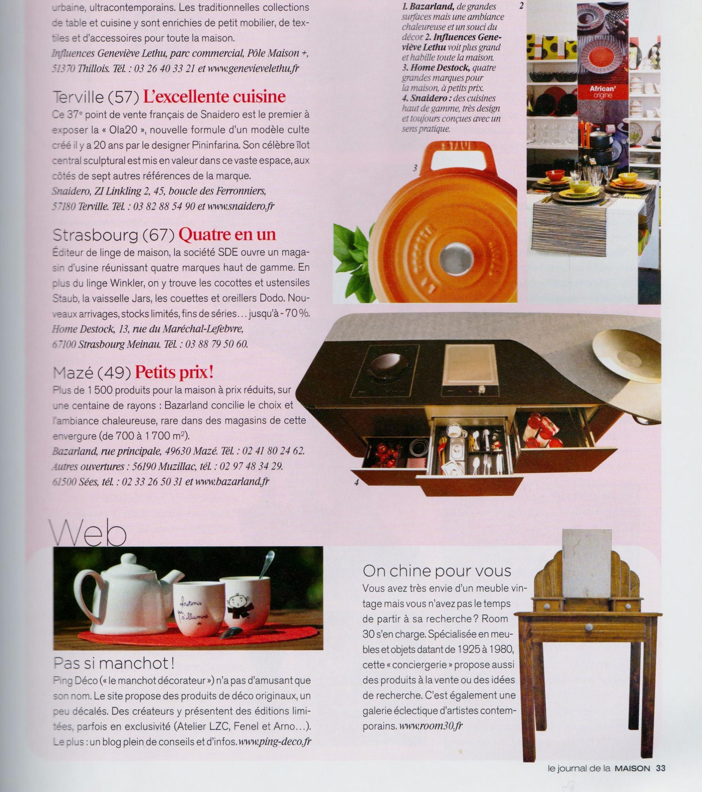 Articles presse partenaires room 30 - Journal de la maison ...