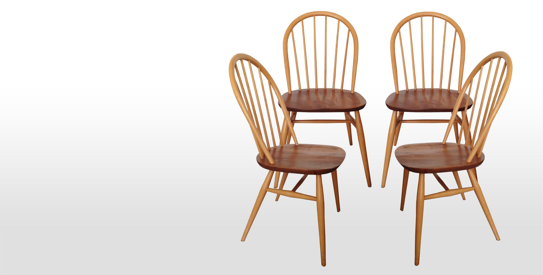 S rie de 4 chaises ercol style scandinave 1970 vendue for Chaise barreaux
