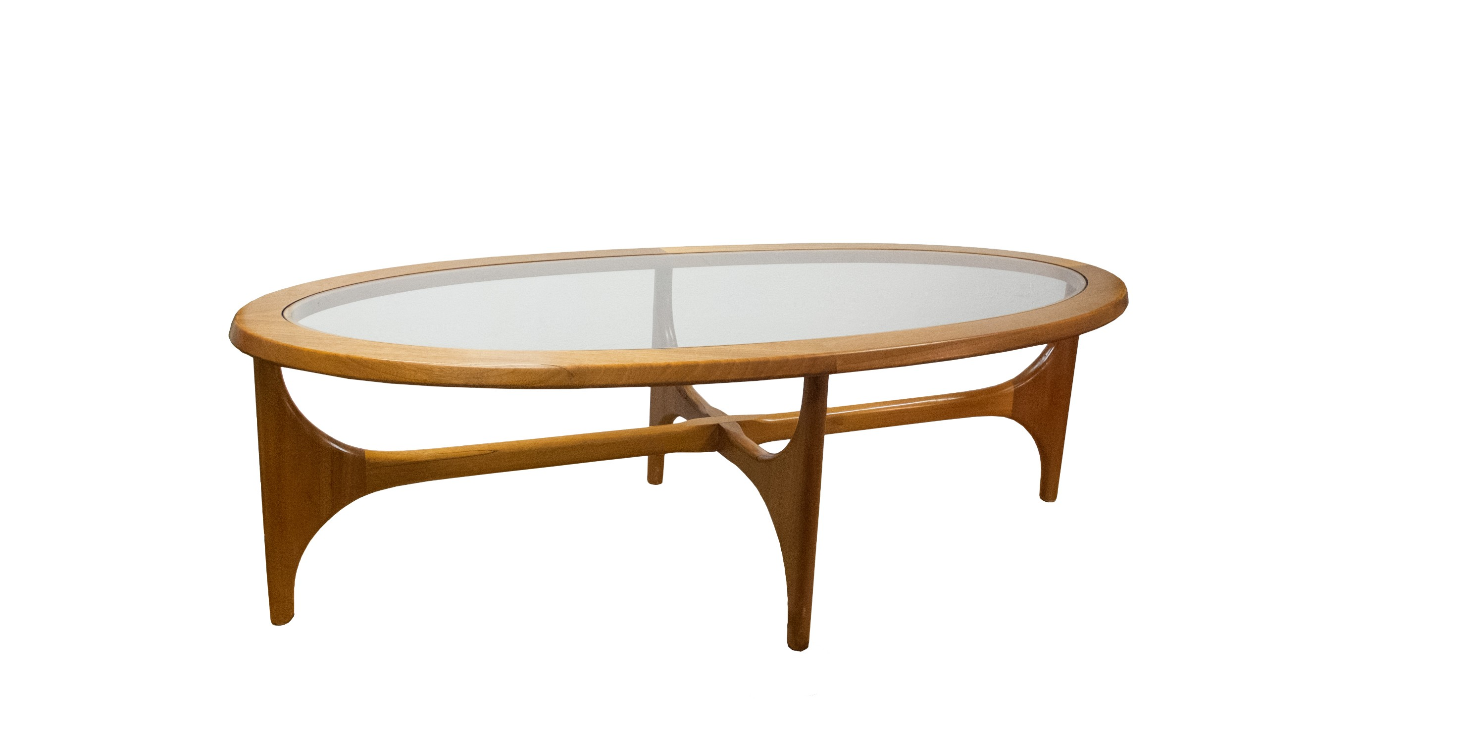 Table basse ovale 1960 vendue room 30 - Table basse grand format ...