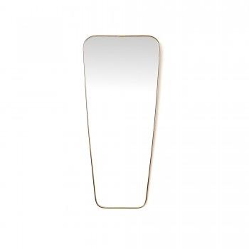 MIROIR RETROVISEUR, miroir asymétrique, miroir doré vintage, miroir vintage, miroir rétroviseur vintage, miroir en laiton vintage, miroir 1960, miroir expo 58