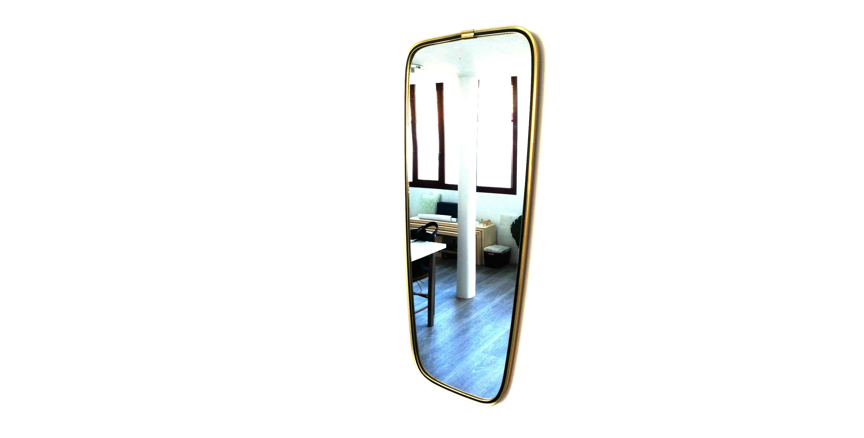 miroir style r troviseur dor et noir 1950 vendu room 30. Black Bedroom Furniture Sets. Home Design Ideas