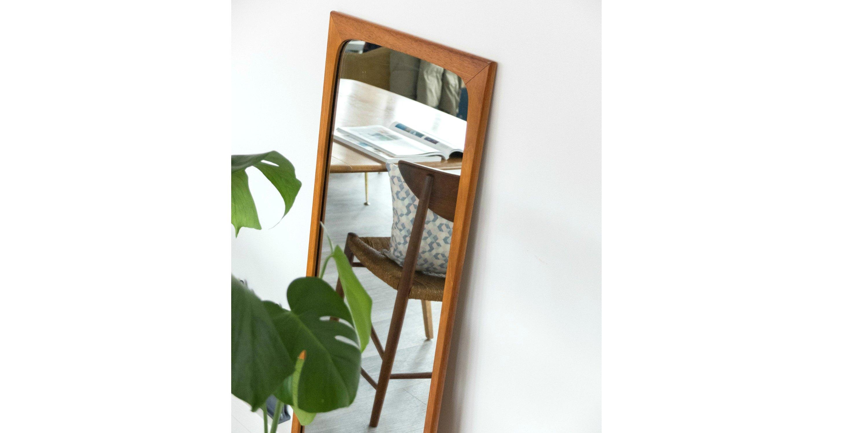 Grand miroir en teck 1960 style scandinave vendu room 30 for Si belle en ce miroir