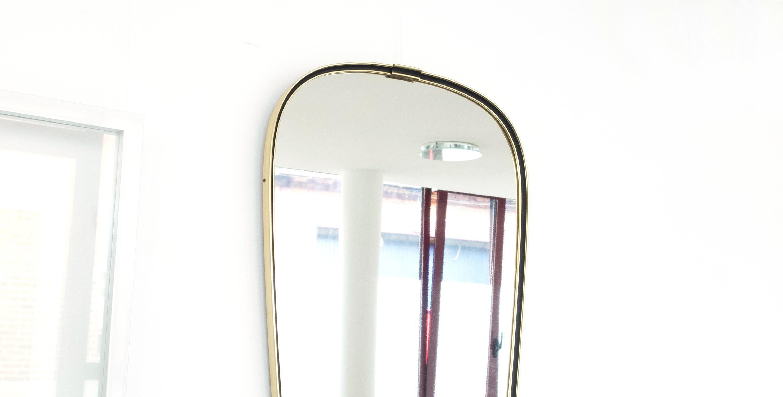 Grand miroir r troviseur laiton noir dor 1950 vendu for Miroir retroviseur