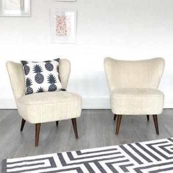 FAUTEUIL COCKTAIL, fauteuil vintage, fauteuil cocktail vintage, mobilier vintage, fauteuil beige vintage, fauteuil vintage, room 30, mobilier vintage paris