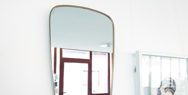Miroir r troviseur laiton noir dor 1950 vendu room 30 for Miroir retroviseur