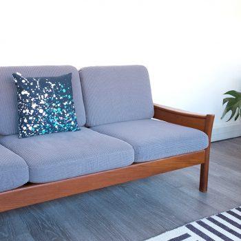 sofa vintage, canape scandinave, dyrlund, canape vintage, sofa danois, mobilier teck, sofa teck vintage