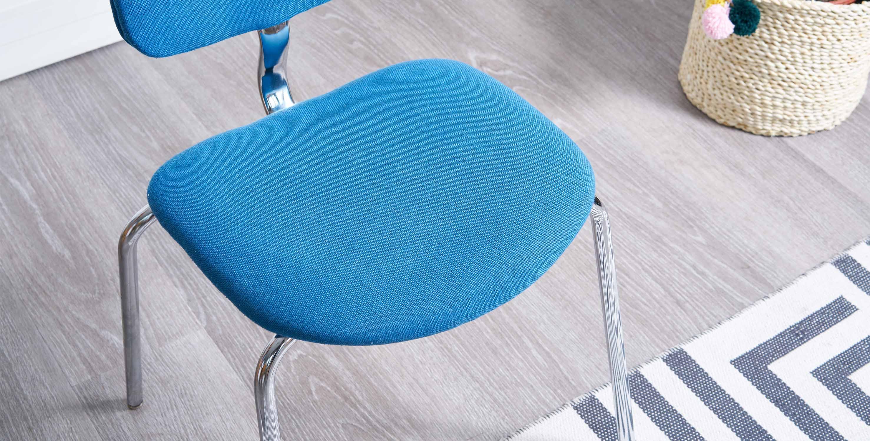 chaise bleu vintage, fauteuil bleu vintage, fauteuil bureau vintage, strafor, chaise strafor, fauteuil strafor, chaise de bureau strafor, chaise salle d'attente vintage, bureau vintage