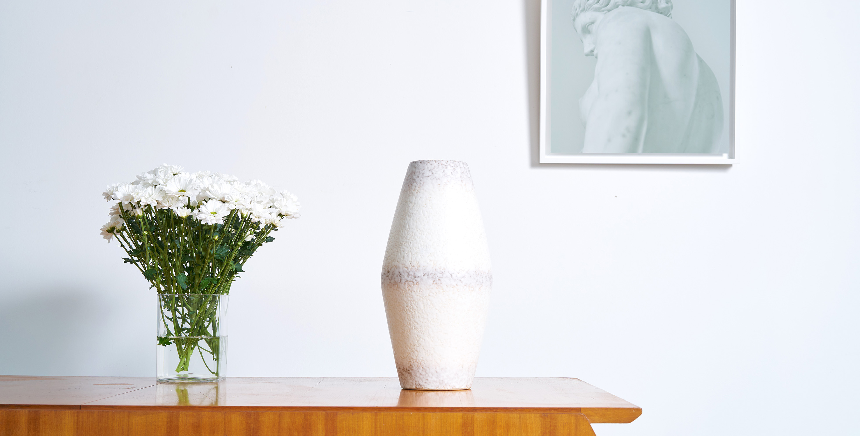 grande ceramique vintage, ceramique vintage, ceramique fleurs, ceramique allemande vintage
