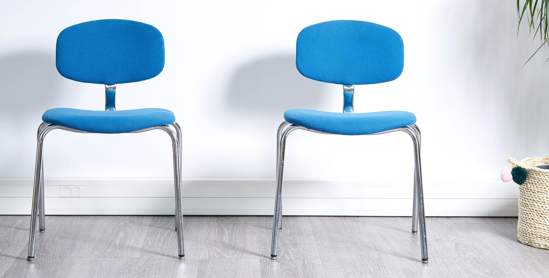 chaise strafor vintage, fauteuil bleu vintage, chaise bleu vintage, chaise bureau vintage, fauteuil bureau vintage