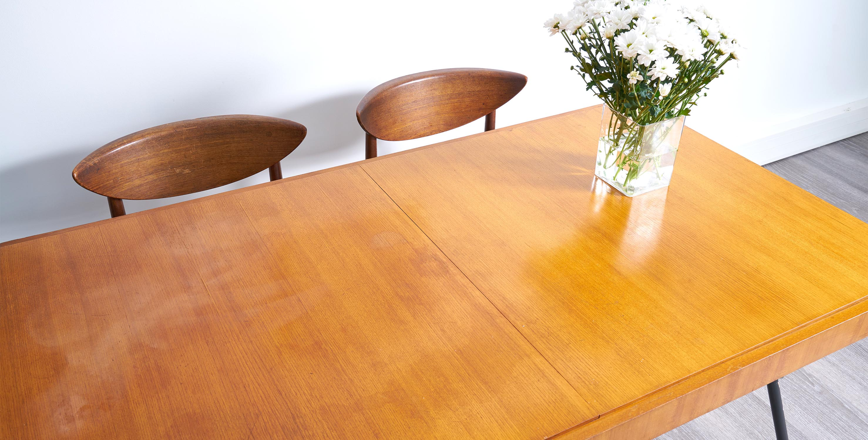 table guermonprez, table vintage, table a manger vintage, table gurmonprez vintage, table chene vintage, table rallonges vintage, table extensible vintage