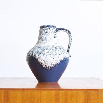 ceramique bleu vintage, pichet vintage, fat lava bleu, pichet fat lava vintage, ceramique allemande vintage