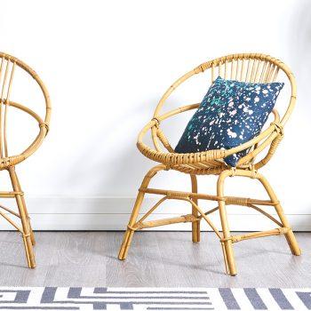 fauteuil rotin vintage, fauteuils rotin vintage, paire de fauteuils rotin, paire de fauteuils rotin vintage