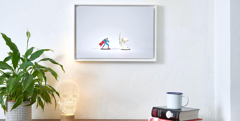 art, affiche, edition limitee, cadre, fine art, artiste, benoit lapray, super heros, superman, vintage, affiche vintage, oeuvre, tirage d'art, cadeau noel, cadeau noel paris