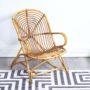 fauteuil rotin vintage, fauteuil rotin, fauteuil vintage, fauteuil bambou vintage, fauteuil coquille vintage, mobilier vintage