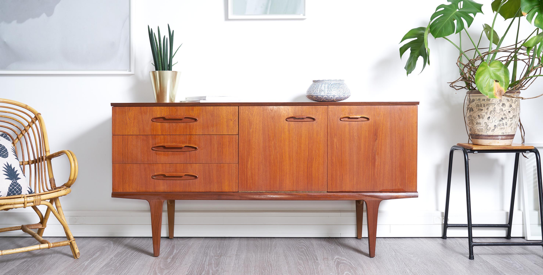 enfilade en teck 1960 style scandinave 850 room 30. Black Bedroom Furniture Sets. Home Design Ideas