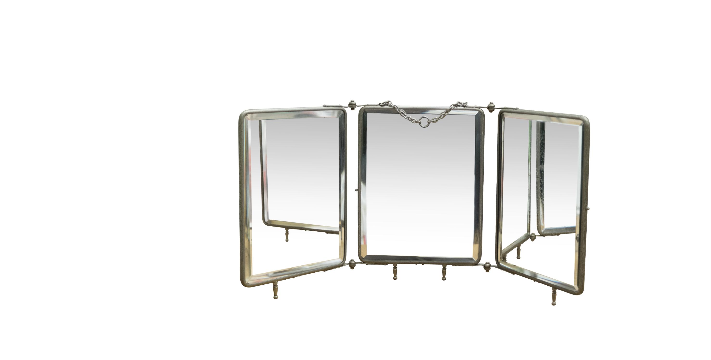 Miroir barbier triptyque 1900 *VENDU* - room 30