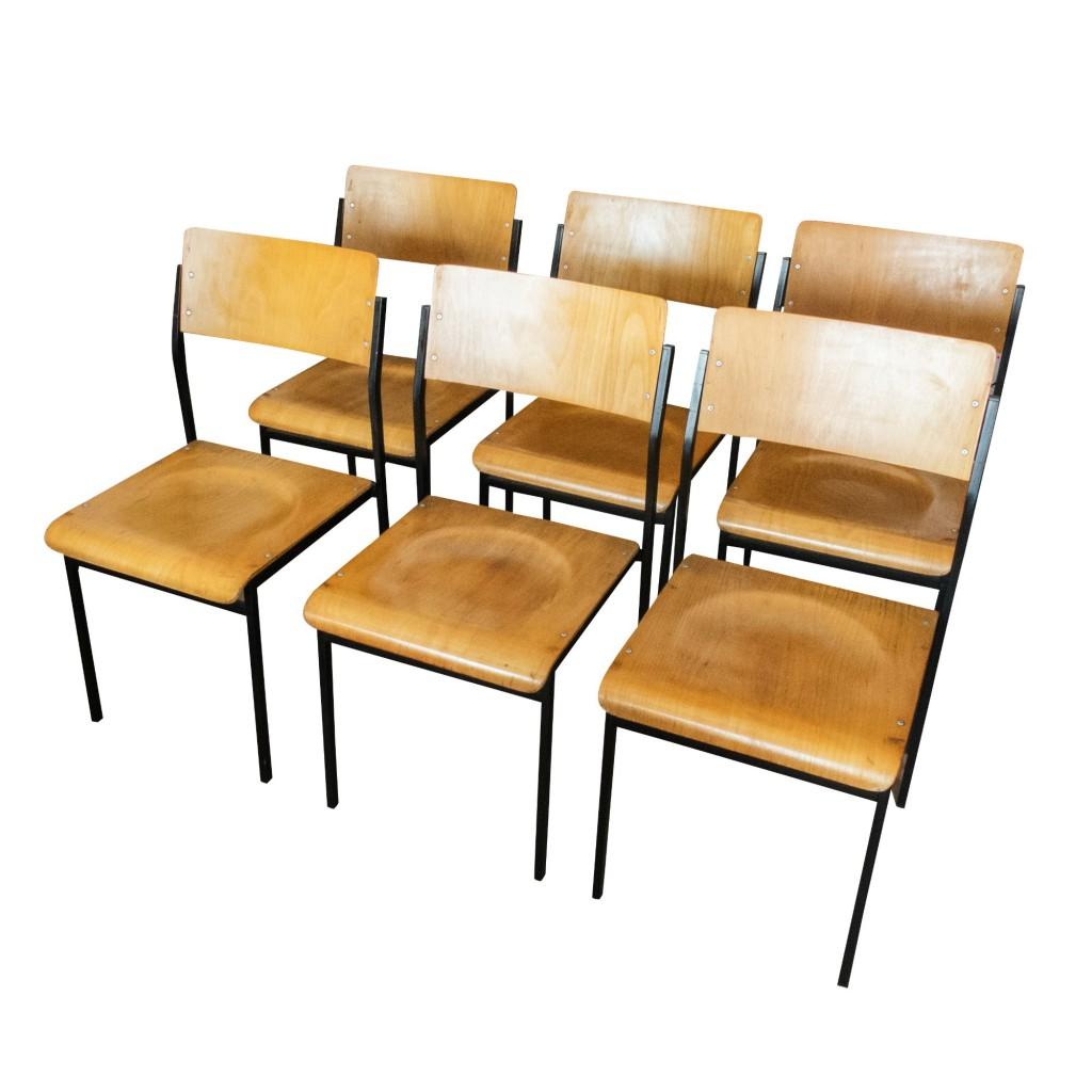 6 Chaises Coliers Vintage Industrielles Chaise Colier Industrielle