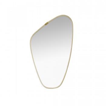 MIROIR ASYMETRIQUE, miroir vintage, miroir doré asymétrique, miroir asymétrique vintage, miroir asymétrique 1950, miroir asymétrique, miroir 1950, miroir expo 1958, miroir pas cher