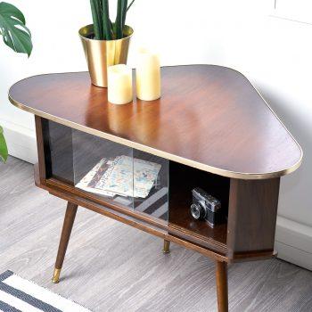 meuble angle vintage, meuble d'angle vintage, meuble tv vintage