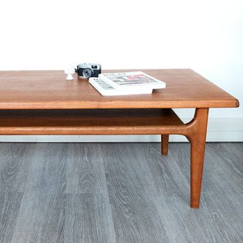 table basse vintage, table basse teck, niels bach, table scandinave
