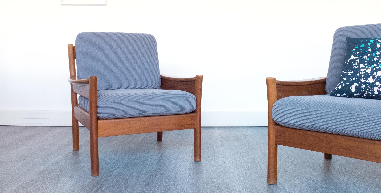 fauteuil vintage paire de fauteuils vintage fauteuil scandinave dyrlund canape vintage fauteuil danois mobilier teck fauteuils teck vintage - Fauteuil Scandinave Vintage