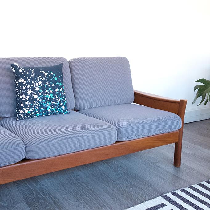 sofa vintage canape scandinave dyrlund canape vintage sofa danois mobilier teck sofa teck vintage - Canape Danois
