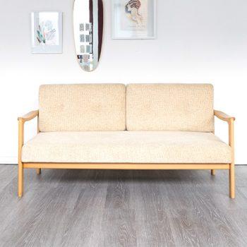 sofa daybed beige, sofa vintage, canape vintage, daybed vintage, petit canapa vintage, room30