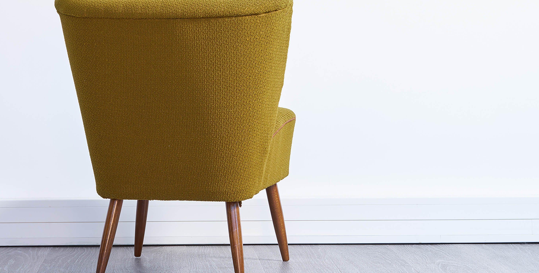 fauteuil vintage pieds compas, fauteuil vert vintage, paire de fauteuils cocktail, fauteuil cocktail vintage