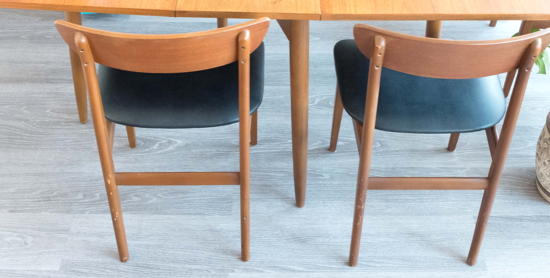 4 Chaises Vintage Scandinaves Danoises Teck Mobilier Vintage4