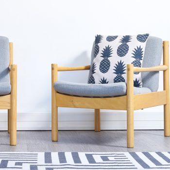 fauteuil ercol vintage, fauteuils vintage, fauteuil bleus vintage, fauteuils vintage, paire de fauteuils vintage