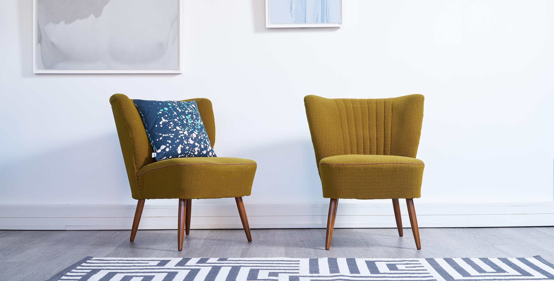 paire fauteuils cocktail - Fauteuil Cocktail Vintage