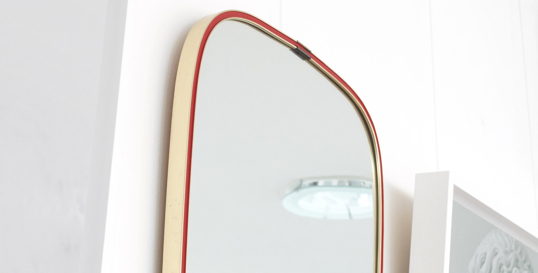 miroir vintage, miroir retroviseur vintage, miroir asymetrique vintage, miroir laiton vintage, miroir cadre laiton