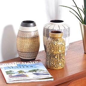 ceramique vintage, ceramique allemande, ceramique jaune vintage, ceramiques vintage, ceramiques allemandes vintage, vase vintage, vase jaune vintage