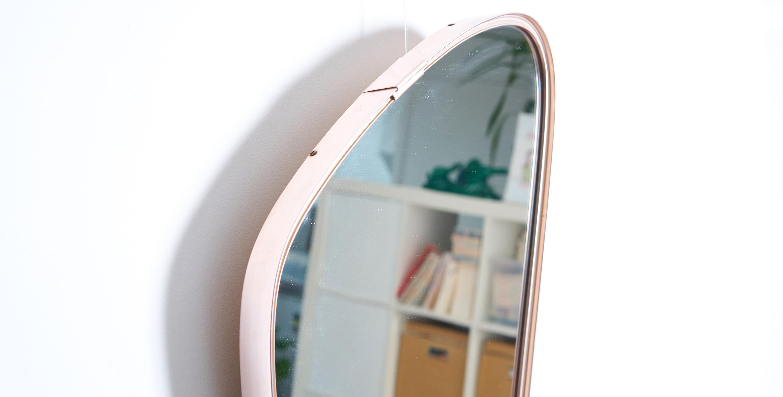 miroir asymetrique vintage, miroir vintage, miroir laiton vintage, miroir retroviseur vintage