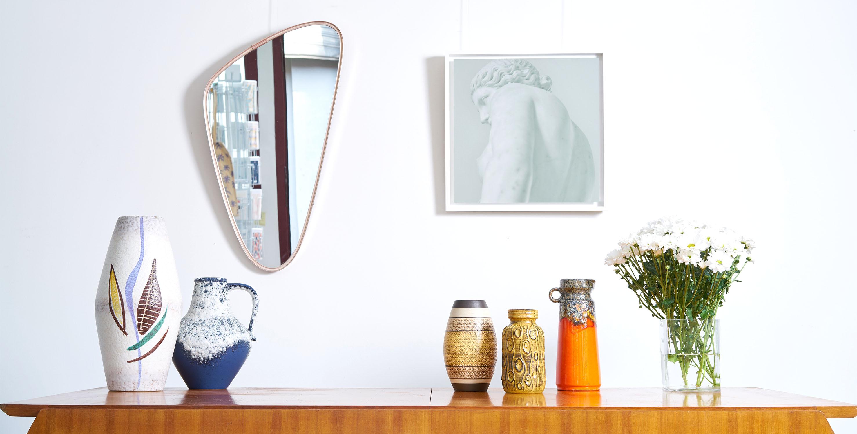 miroir asymetrique vintage, miroir vintage, miroir laiton, miroir laiton vintage, miroir retroviseur vintahe, miroir asymétrique, miroir asymétrique vintage