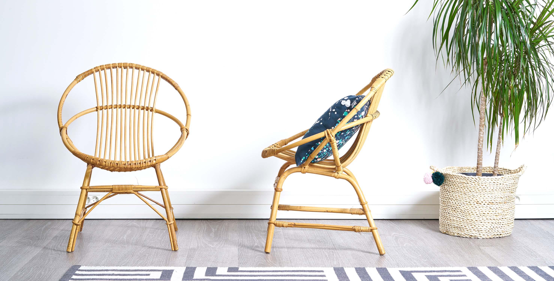 fauteuil rotin vintage, fauteuil rotin, paire de fauteuils rotin vintage, fauteuils vintage, fauteuils coquille vintage