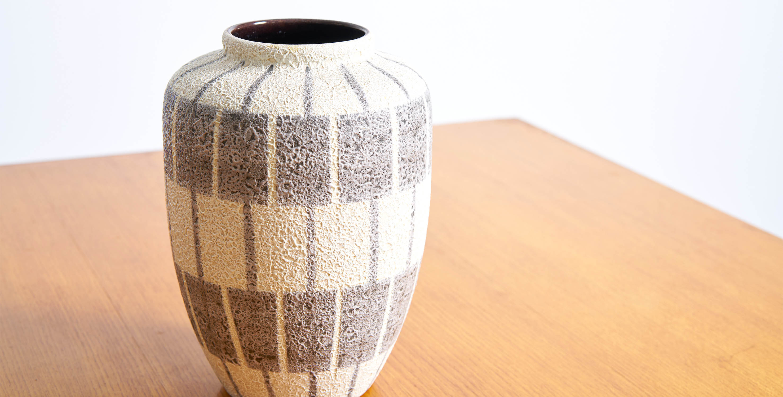 ceramiques vintage, ceramique allemande vintage, ceramique jaune vintage, vase vintage