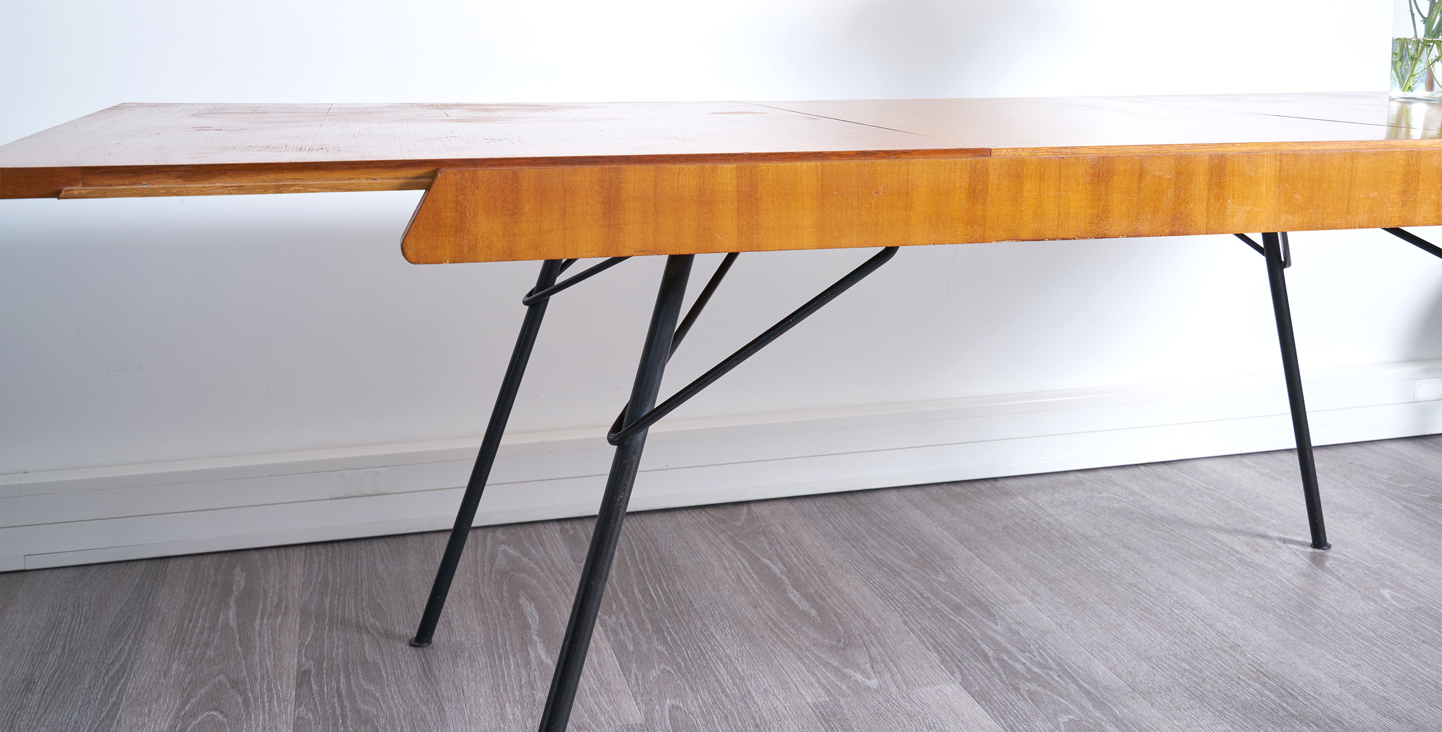 table guermonprez, table vintage, table a manger vintage, table gurmonprez vintage, table chene vintage, table rallonges vintage, table extensible vintage