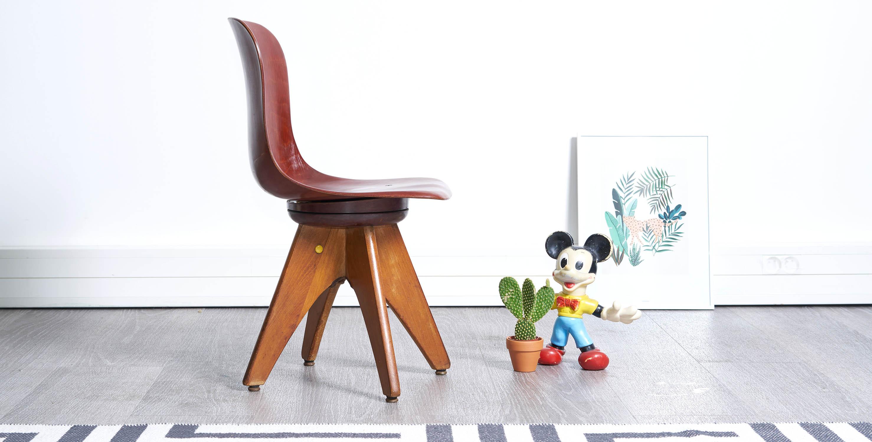 chaise enfant vintage, chaise vintage, chaise scandinave vintage, mobilier enfant, mobilier vintage, flototto, bauhaus
