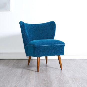 fauteuil cocktail bleu, fauteuil cocktail bleu vintage, fauteuil vintage, fauteuil cocktail vintage, ;obilier vintage, enfilade vintage, paire de fauteuils vintage, paire de fauteuils cocktail vintage