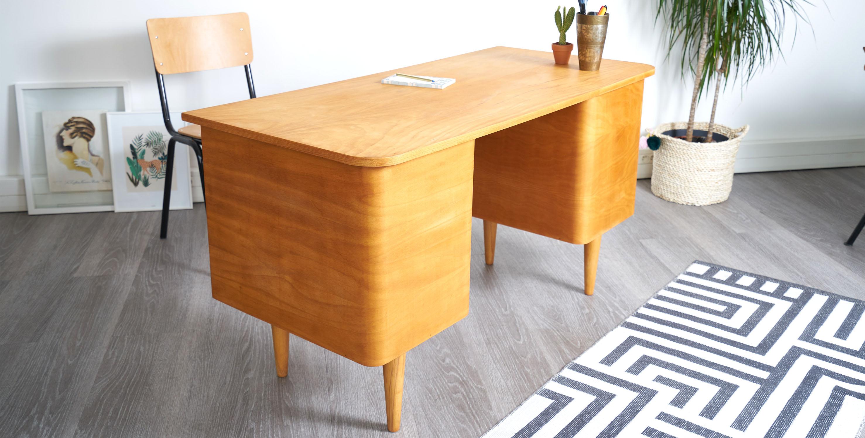 Bureau bois blond style danois vendu room
