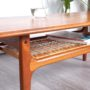 table basse vintage, table basse teck, table trioh, table scandinave, table basse scandinave, table basse scandinave vintage, table teck vintage, table nasse 120cm, table basse teck et rotin, table basse rotin vintage, table basse porte revues, table basse trioh vintage, table basse danoise, table basse danoise vintage, room 30, mobilier vintage