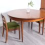table à manger extensible vintage, table g plan en teck scandinave vintage, table vintage avec rallonge , table ronde vintage, table ronde teck vintage, table ronde bois foncé, room 30