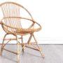 fauteuil rotin, fauteuil rotin vintage, fauteuil coquille, fauteuil coquille vintage, fauteuil vintage, mobilier vintage, miroir rotin, miroir osier, miroir rond rotin vintage, miroir vintage