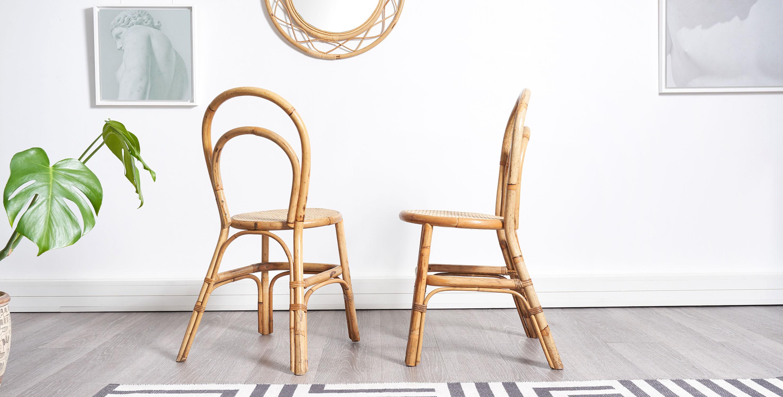fauteuil rotin, fauteuil rotin vintage, fauteuil coquille, fauteuil coquille vintage, fauteuil vintage, mobilier vintage, miroir rotin, miroir osier, miroir rond rotin vintage, miroir vintage, chaises rotin vintage, chaises bambou vintage, chaises bistrot vintage
