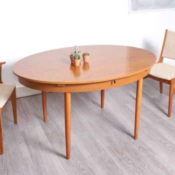 table à manger extensible vintage, table scandinave vintage, table vintage avec rallonge , table ovale vintage, table ovale vintage, table ovale bois clair, room 30