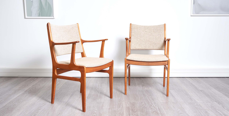chaises vintage avec accoudoirs, chaises scandinaves, chaises scandinaves vintage, paire de chaises vintage, chaise danoise, 2 chaises avec accoudoirs, paire de chaises en teck, chaises vintage en teck, chaises en teck, chaise en teck, 2 chaises vintage