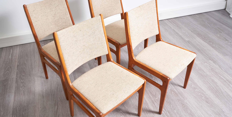 chaises vintage avec accoudoirs, chaises scandinaves, chaises scandinaves vintage, paire de chaises vintage, chaise danoise, 2 chaises avec accoudoirs, paire de chaises en teck, chaises vintage en teck, chaises en teck, chaise en teck, 4 chaises vintage