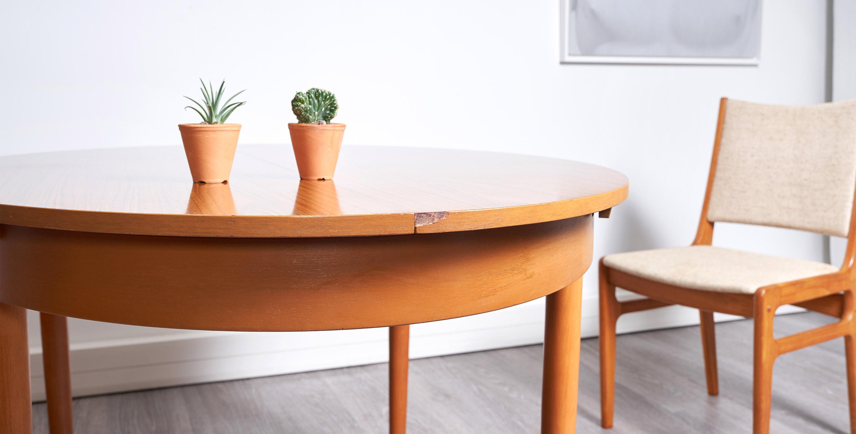 table à manger extensible vintage, table scandinave vintage, table vintage avec rallonge , table ovale vintage, table ovale vintage, table ovale bois clair, room 30