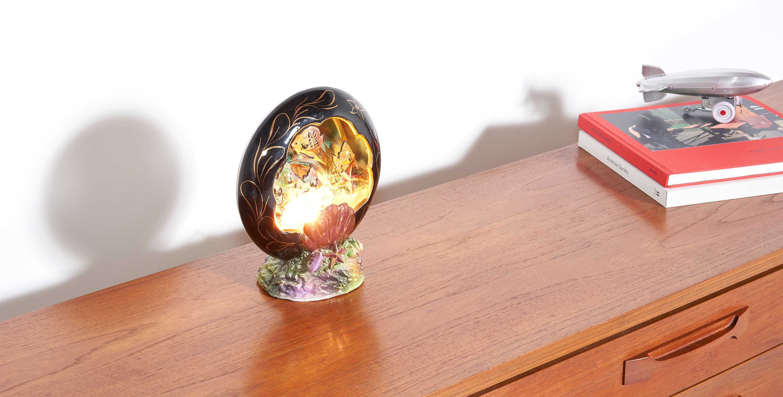 Lampe vallauris vintage, lampe coquillage vintage, lampe made in france, made in france, lampe coquillage, veilleuse vintage, veilluse vallauris, coquillage vintage